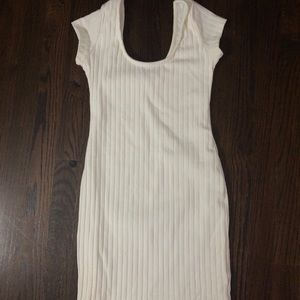 XS Tobi fitted ribbed dress
